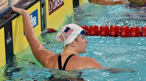 American competitive swimmer Eva MERRELL USA Royalty Free Stock Photography