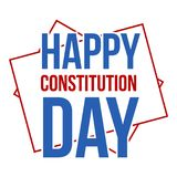 American constitution day logo icon, flat style Stock Image