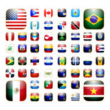 American continent app icon Stock Photos