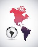 american continent  design Stock Photo