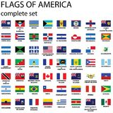 American continent flags Royalty Free Stock Photo