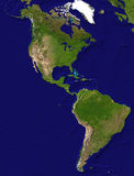 American continent  view. Satellite view of the American continent Stock Images