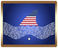 American control the web concept Stock Photo