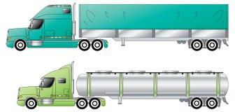 American conventional trucks & trailers. Bulk haulage Royalty Free Stock Photos