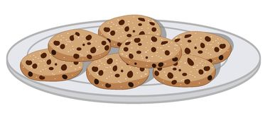 American Cookies vector illustration