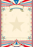 American cool frame. A tricolor background with a large frame for you Royalty Free Stock Images