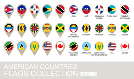 American Countries Flags Collection, Part 2. 2  version Royalty Free Stock Photography