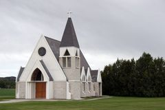 American country chapel. Small country chapel in Billings, Montana, U.S.A stock image