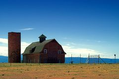 American Country Farm and Barn Stock Image