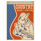 American Country music background retro poster with text Royalty Free Stock Images