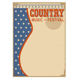 American Country music background with text Stock Image