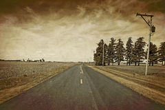 American Country Road Stock Image