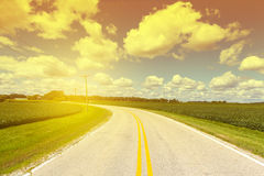 American Country Road Royalty Free Stock Image