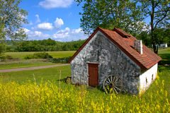 American Country Rural Landscape and Old Farmhouse Royalty Free Stock Photography