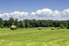 American countryside against blue sky Royalty Free Stock Photos