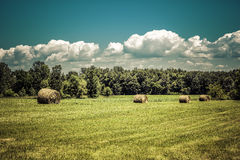 American countryside against sky Stock Photography