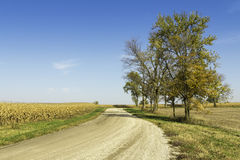 American countryside gravel road royalty free stock photography