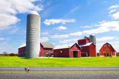 American Countryside Red Farm Royalty Free Stock Photography