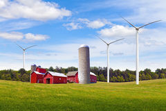 American Countryside With Windmill Royalty Free Stock Image