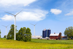 American Countryside With Windmill Royalty Free Stock Images