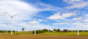 American Countryside With Windmill Stock Image