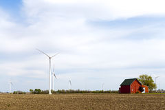 American Countryside With Windmill Royalty Free Stock Photography