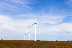 American Countryside With Windmill Royalty Free Stock Photos