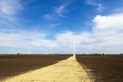 American Countryside With Windmill Stock Photography