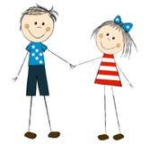 American couple vector illustration