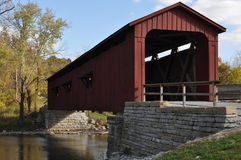 American covered bridge Stock Photo