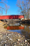 American covered bridge Stock Photography