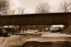 American covered bridge Royalty Free Stock Photo