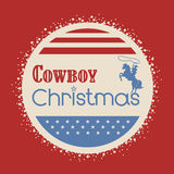 American cowboy christmas greeting card Stock Photo