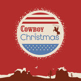 American cowboy christmas poster Stock Images
