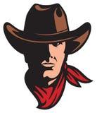 American cowboy head. Cowboy in heat, cowboy mascot Royalty Free Stock Image