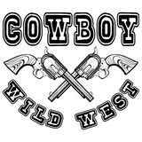 American cowboy revolvers var 1 Royalty Free Stock Images