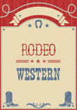 American cowboy rodeo poster for text Royalty Free Stock Image