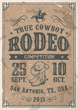 American cowboy rodeo poster Royalty Free Stock Images