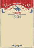 American cowboy rodeo poster.Vector western paper background for royalty free illustration