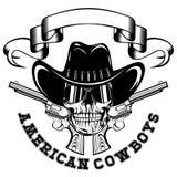 American cowboy skull revolvers var 1 Stock Photography