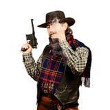 American cowboy smoking cigar Royalty Free Stock Images