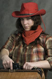 American cowgirl Royalty Free Stock Photos