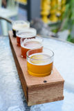 American Craft Beer. The American Craft Beer on the table royalty free stock image