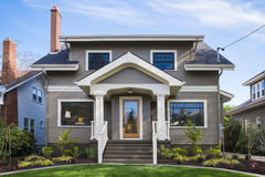 American craftsman house Royalty Free Stock Photo