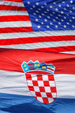 American and Croatian national flags Royalty Free Stock Photo