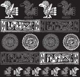 American culture icon. Vector illustration. Abstract illustration of birds and American culture icon. Vector illustration Stock Image
