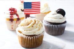 American cupcakes stock photo