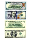 American currency on both sides Royalty Free Stock Photos