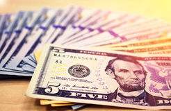 American currency. Dollars Stock Images