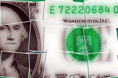 United States currency one dollar bill Stock Image